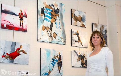 Art Presse rugby : Lucie LLONG expose ses peintures à la mairie de Royat