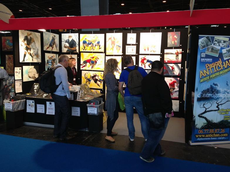 Rugby : Lucie LLONG, Artiste du mouvement vous présente son stand avec ses peintures sur toile 100% Rugby