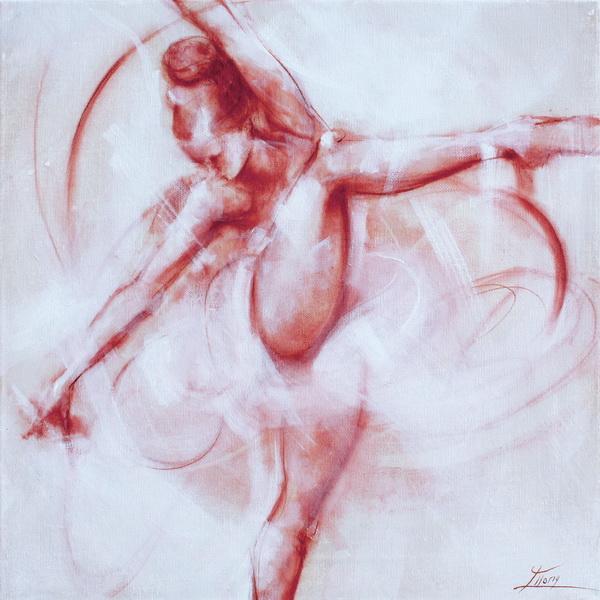 Art Dance Moderne : Peinture sur toile d'une danseuse