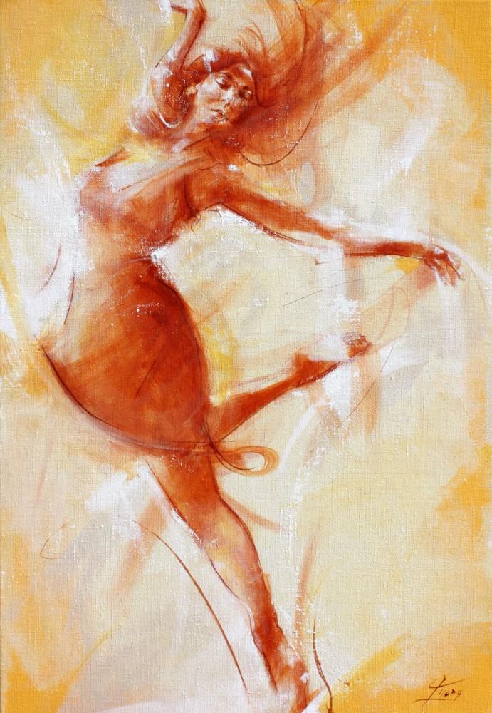 Tableau Art Danse moderne : Peinture sur toile de danse moderne