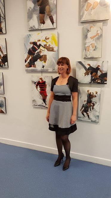 Art rugby : le vernissage de l'exposition Passion Ovalie à Ussel