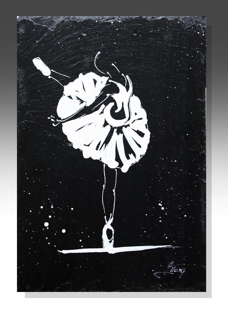 art peinture sur ardoise sport danse ballet idée cadeau artistique