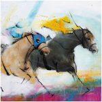 art_tableau_peinture_cheval_equitation_course_hippique