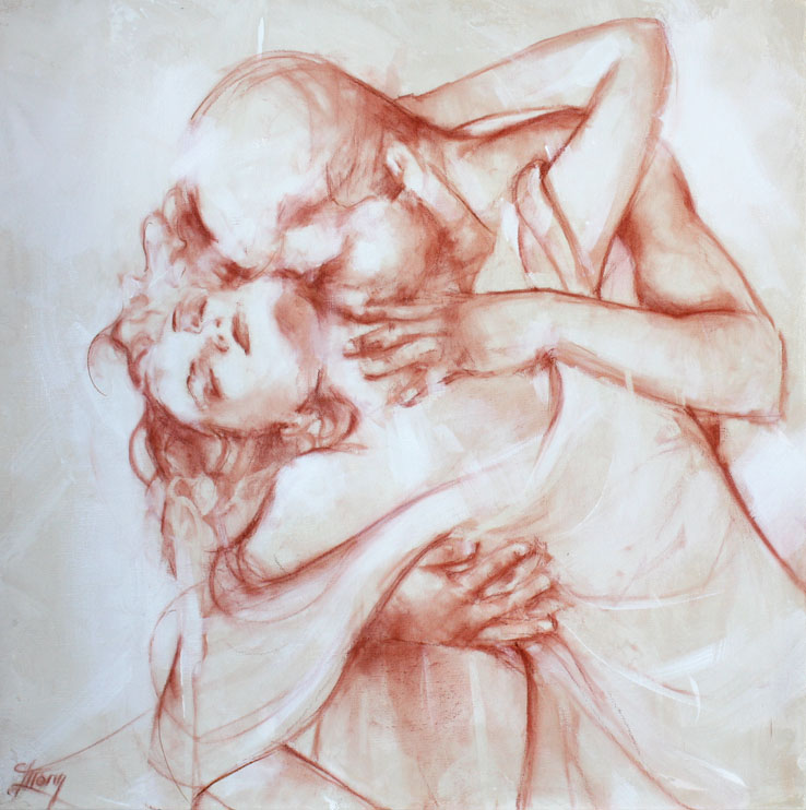 tableau peinture sur toile art : la passion, la sensualité et l'amour d'un couple