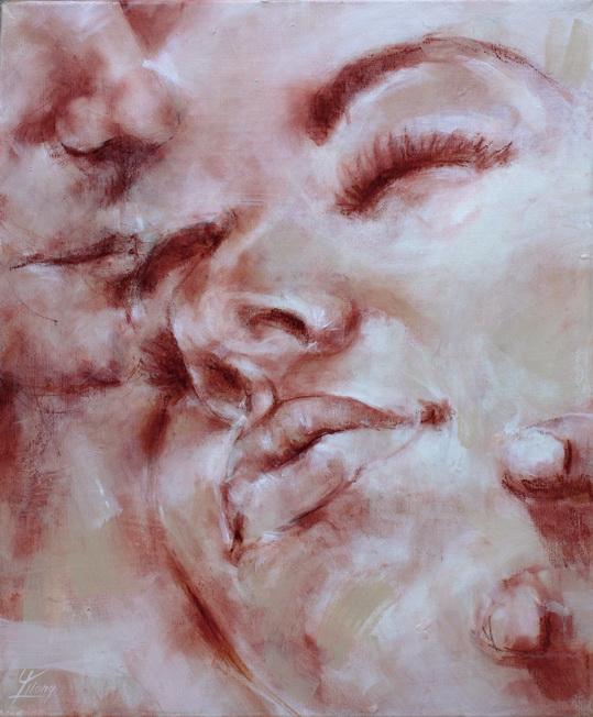 tableau peinture sur toile art : l'amour et la passion et la sensualité d'un couple amoureux