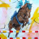 art_peinture_tableau_sport_cheval_CSO_equitation