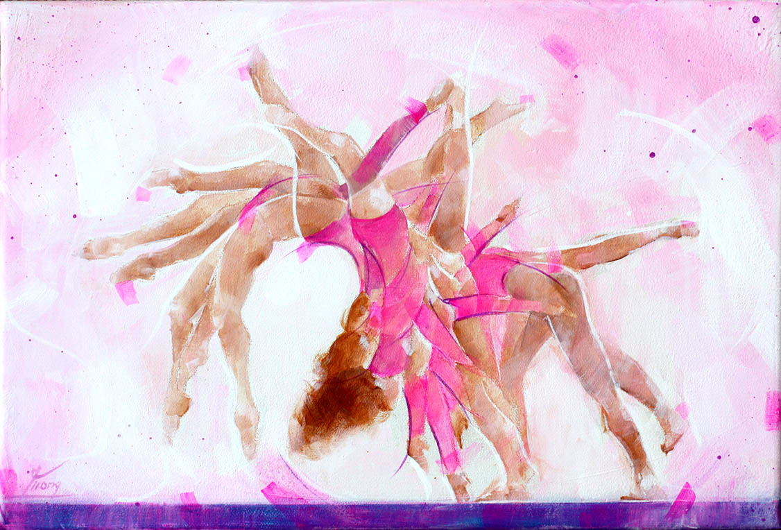 Art sport canvas painting : Gymnastic movement