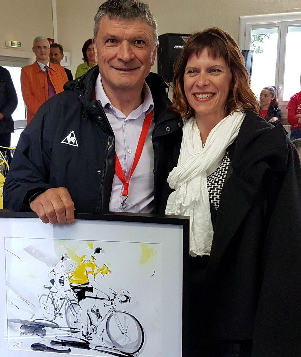Lucie LLONG avec Bernard Thévenet
