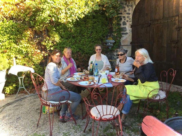 Stage en extérieur sur le motif - peinture - Usson - Puy de Dôme -Auvergne