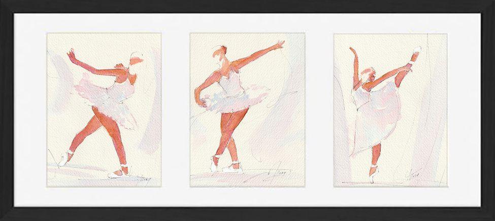 Dance Ballet art framed watercolor painting : art of classic dance