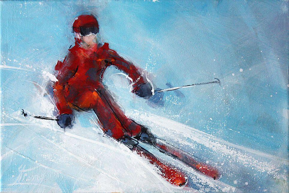 Art sport ski peinture