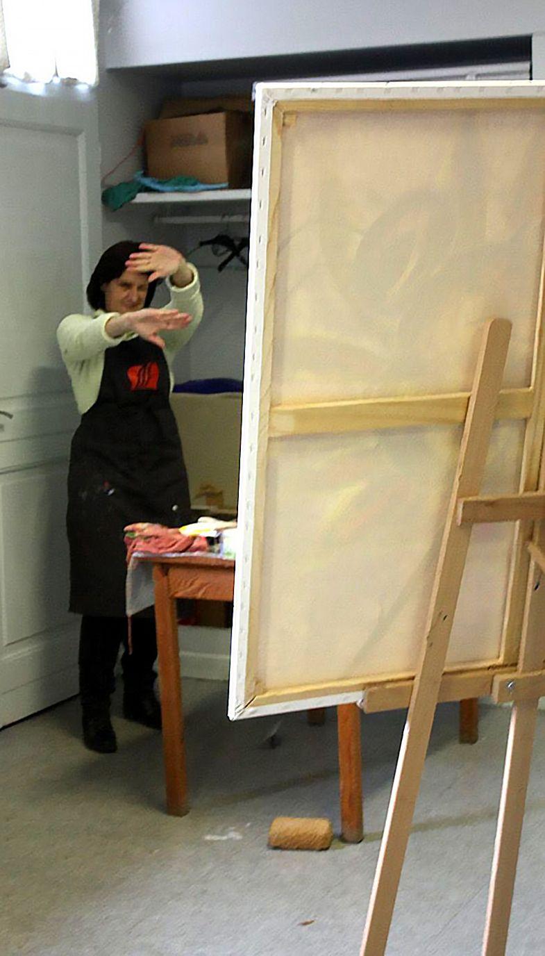 art stage peinture grand format POPART : les photos du stage - Champeix - Puy-de-dôme - Auvergne Rhône Alpes