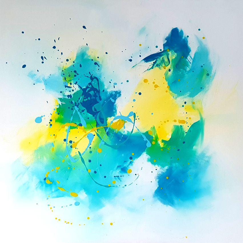 art stage peinture grand format POPART : les tableaux du stage - Champeix - Puy-de-dôme - Auvergne Rhône Alpes