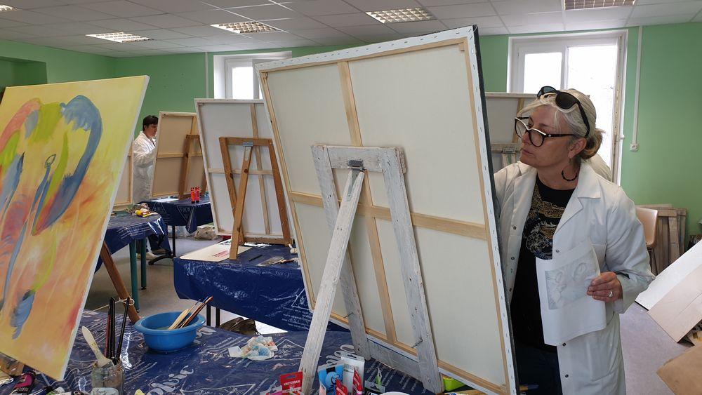 POPART : stage de peinture à Charbonnières les Varennes - Puy de Dôme - Auvergne