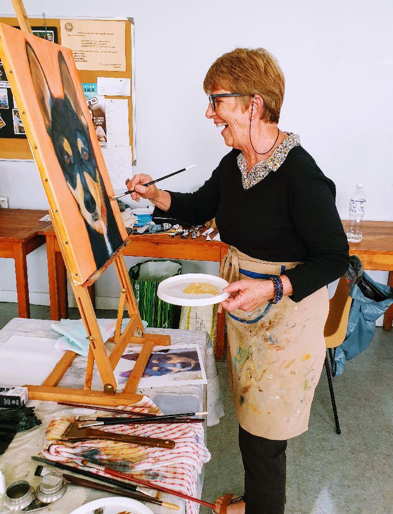 Les photos du stage de peinture animalière organisé à Champeix - Puy-de-dôme - Auvergne Rhône Alpes - par l'association Couleur et création et l'artiste peintre Lucie LLONG