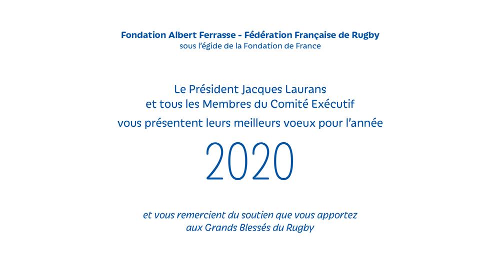 Fondation FERRASSE soutenue par la FFR présente ses vœux en peinture